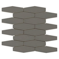 Hexagon Dark Gray Polished Porcelain Mosaic