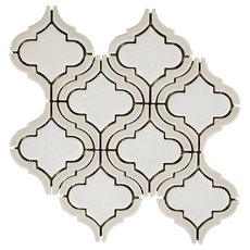 Clay Frame Arabesque Porcelain Mosaic