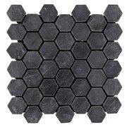 Black Hexagon Slate Mosaic