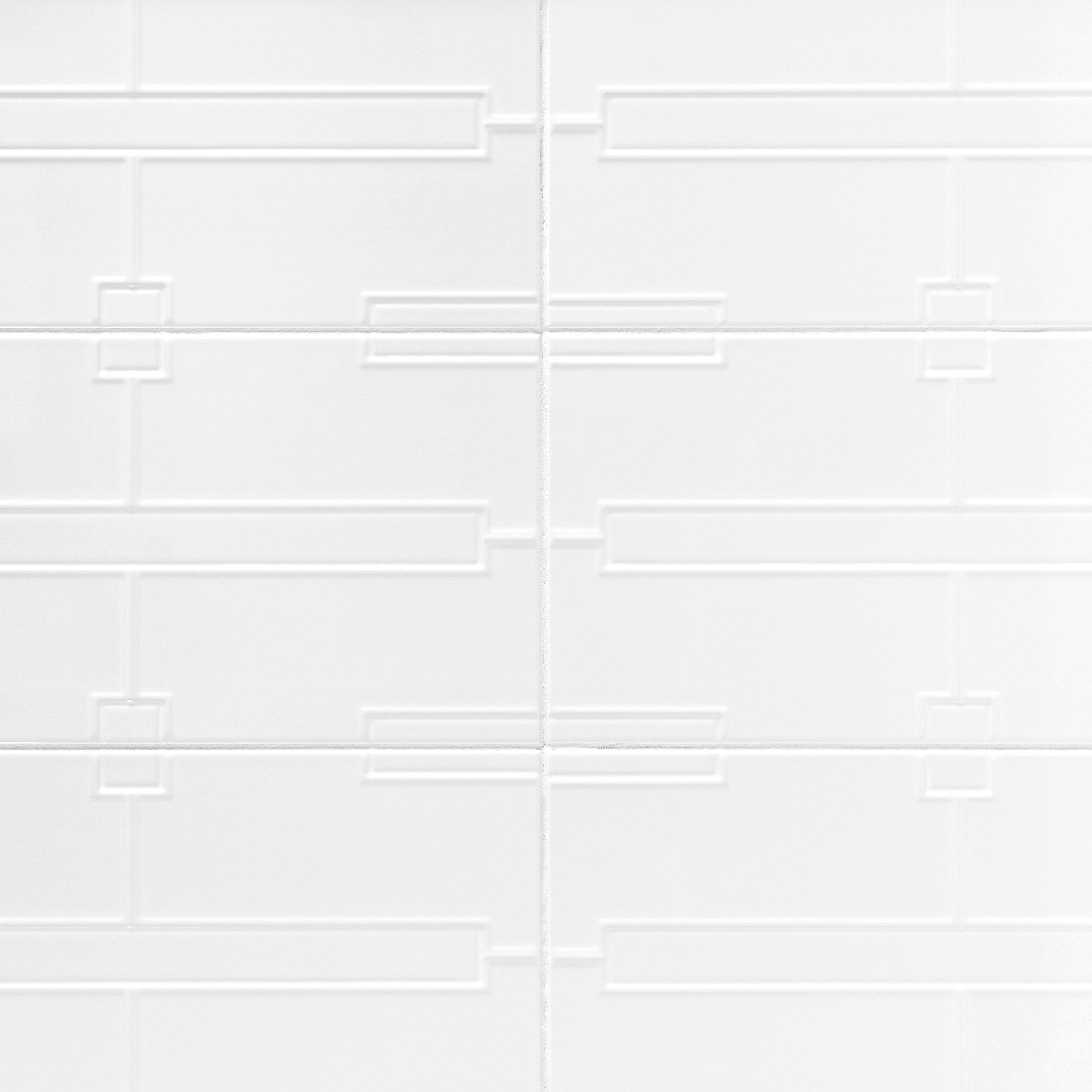 Maddox White Ceramic Tile 12in x 24in 100344126 Floor and