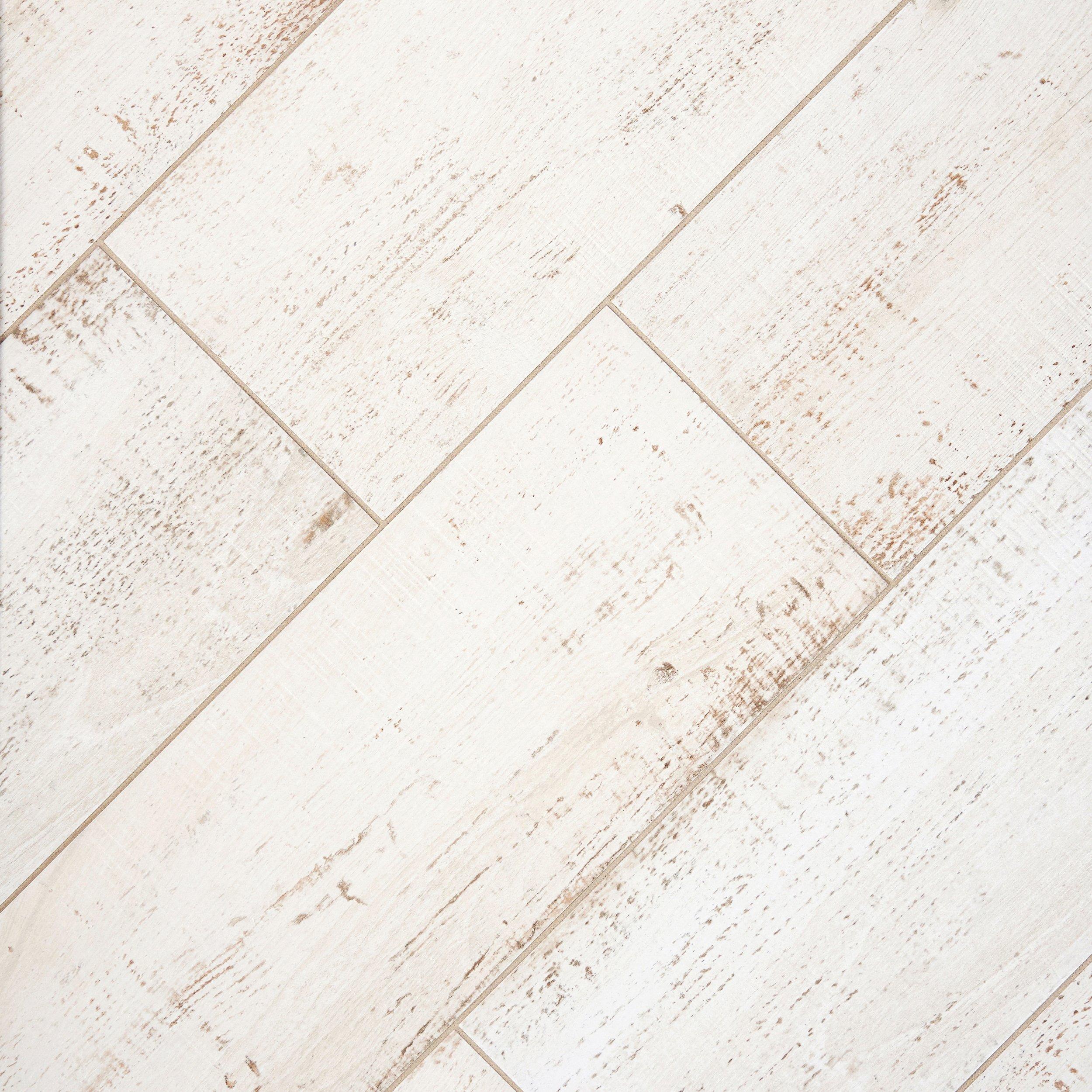 Porcelain Tile Wood Plank: Pier White Wood Plank Porcelain Tile