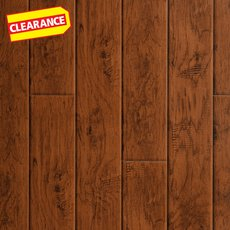 Clearance! Carolina Hickory Hand Scraped Luxury Vinyl Plank