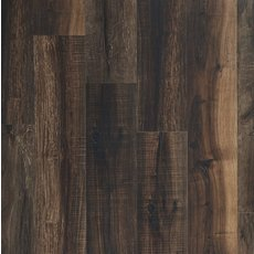 Mixed Mocha Rigid Core Luxury Vinyl Plank - Cork Back