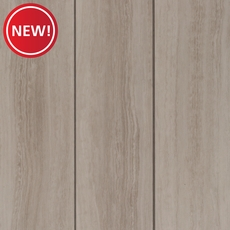 New! NuCore White Tile Plank with Cork Back