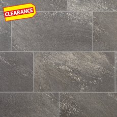 Clearance! Dark Gray Grouted Rigid Core Luxury Vinyl Tile - Cork Back