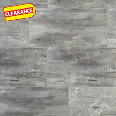 Clearance! Rustic Gray Grouted Rigid Core Luxury Vinyl Tile- Cork Back