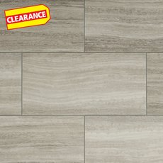 Clearance! Gray Grouted Rigid Core Luxury Vinyl Tile - Cork Back