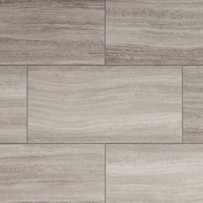 NuCore Gray Tile Plank with Cork Back