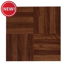 New! Parquet Red Luxury Vinyl Tile