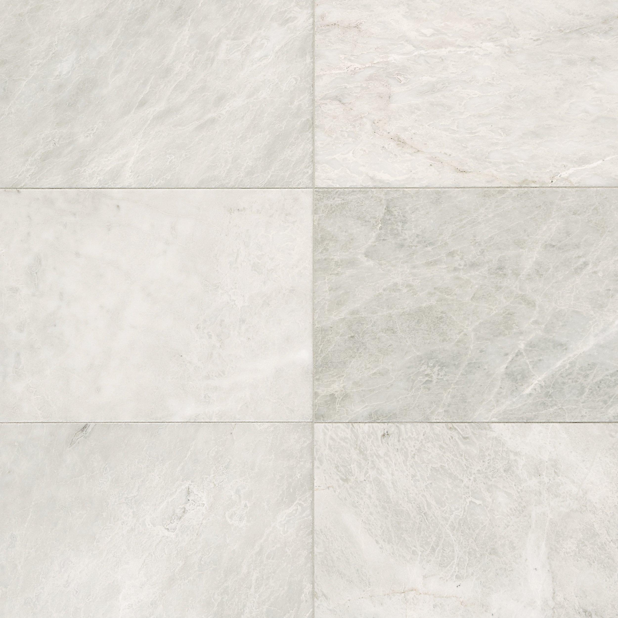 Carrara White Honed Marble Tile 12 X 12 921100474