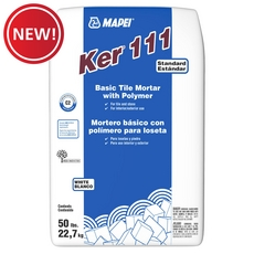 New! Mapei Ker 111 White Basic Tile Mortar with Polymer