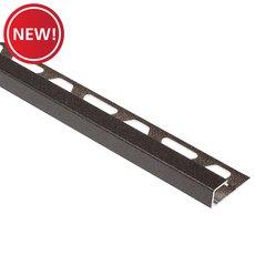 New! Schluter Quadec Square Edge Trim 1/4in. Aluminum Dark Anthracite
