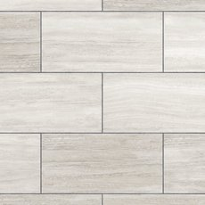 White Grouted Style Tile with Cork Back