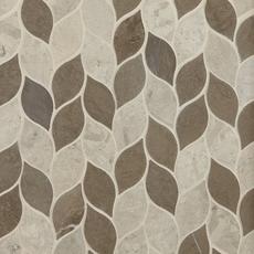 Mixed Leaf Limestone Mosaic