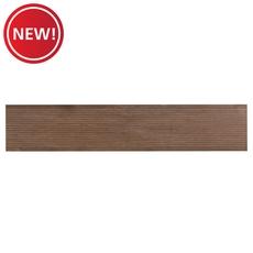 New! Merbau Deck Brown Wood Plank Porcelain Tile