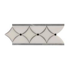 Bardiglio Paper White Marble Border