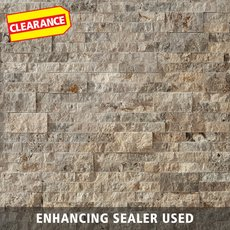 Clearance! Silver Travertine Panel Ledger