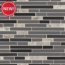 New! Chelsea Gray Glass Mosaic