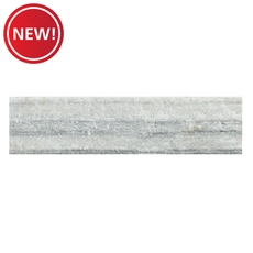 New! MultiLength Regent Gray Splitface Marble Panel - Sold as Box