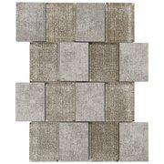 Ecru Denim 3 x 4 in. Brick Glass Mosaic