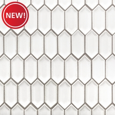 New! Alabaster Picket Ceramic Mosaic