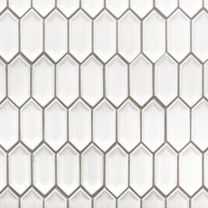 Alabaster Picket Ceramic Mosaic