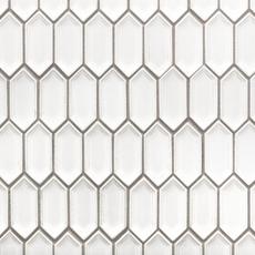 Alabaster Picket Ceramic Mosaic