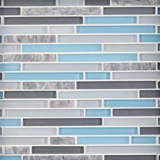 Cerulean Blue Glass Mosaic