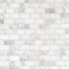 Sahara Carrara Brick Marble Mosaic