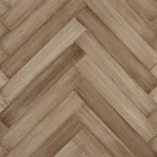Bonsika Herringbone Distressed Solid Stranded Bamboo