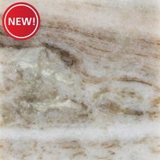 New! Ready to Install Fantasy Brown Marble Prefab Slab Includes Backsplash