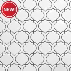 New! Marrakesh White Polished Porcelain Mosaic