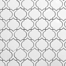 Marrakesh White Polished Porcelain Mosaic