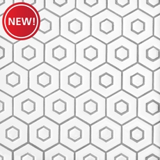 New! White Double Hexagon Polished Porcelain Mosaic
