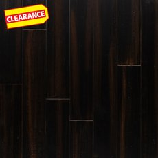 Clearance! Cocoa Bean Hand Scraped Solid Stranded Bamboo