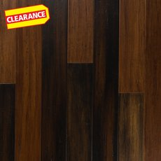 Clearance! Espresso Hand Scraped Solid Stranded Bamboo
