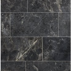 Silver Black Polished Marble Tile