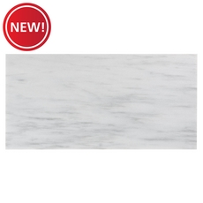 New! Ice White Honed Marble Tile