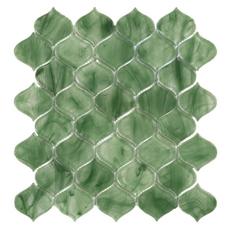 Montage Emerald City Arabesque Glass Mosaic