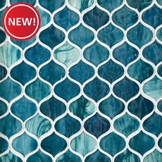 New! Marina Del Ray Arabesque Glass Mosaic