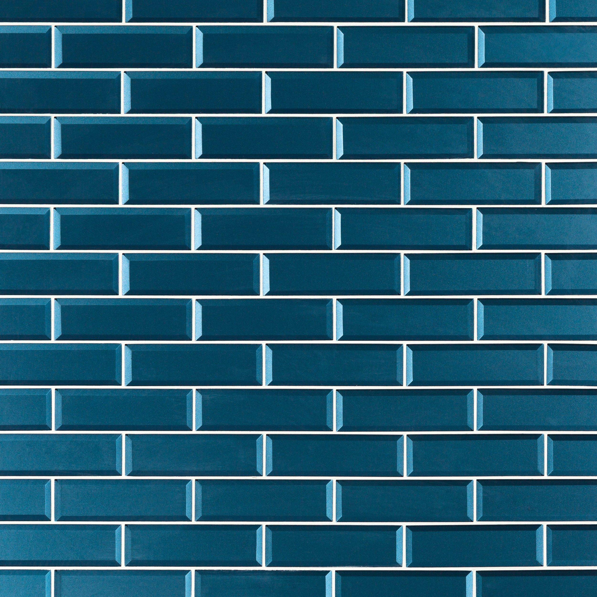 Parisian Blue Glass Wall Tile - 2 1/2 x 8 - 100463280 | Floor and Decor