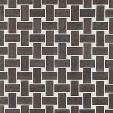 Mediterranean Gray Basket Weave Marble Mosaic