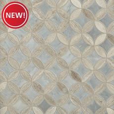 New! Valentino White Bardiglio Tulip Polished Marble Mosaic