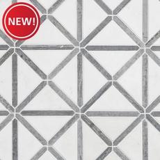 New! Thassos Valentino Azul Axis Marble Mosaic