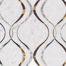 Medusa Bianco Carrara Waterjet Marble Mosaic