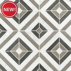 New! Prismatic Carrara Blend Marble Mosaic