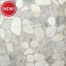 New! Mixed Carrara Pebblestone Mosaic