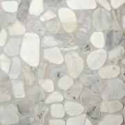 Mixed Carrara Pebblestone Mosaic