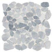 Ice Blue Pebble Mosaic
