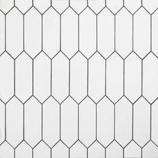 White Picket Ceramic Tile